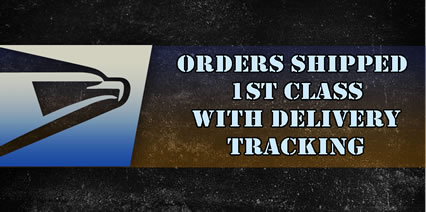 First Class Shipping with Delivery Tracking